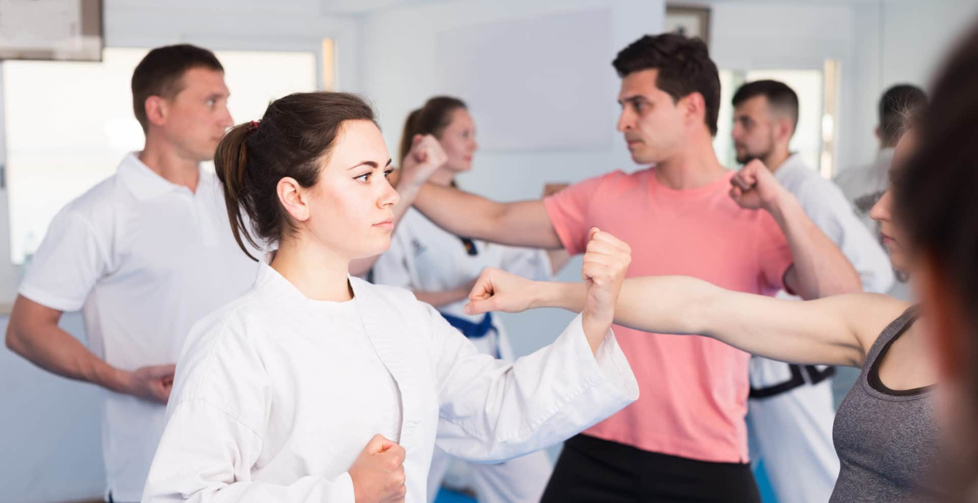 Mixed Group of Adults Martial Arts
